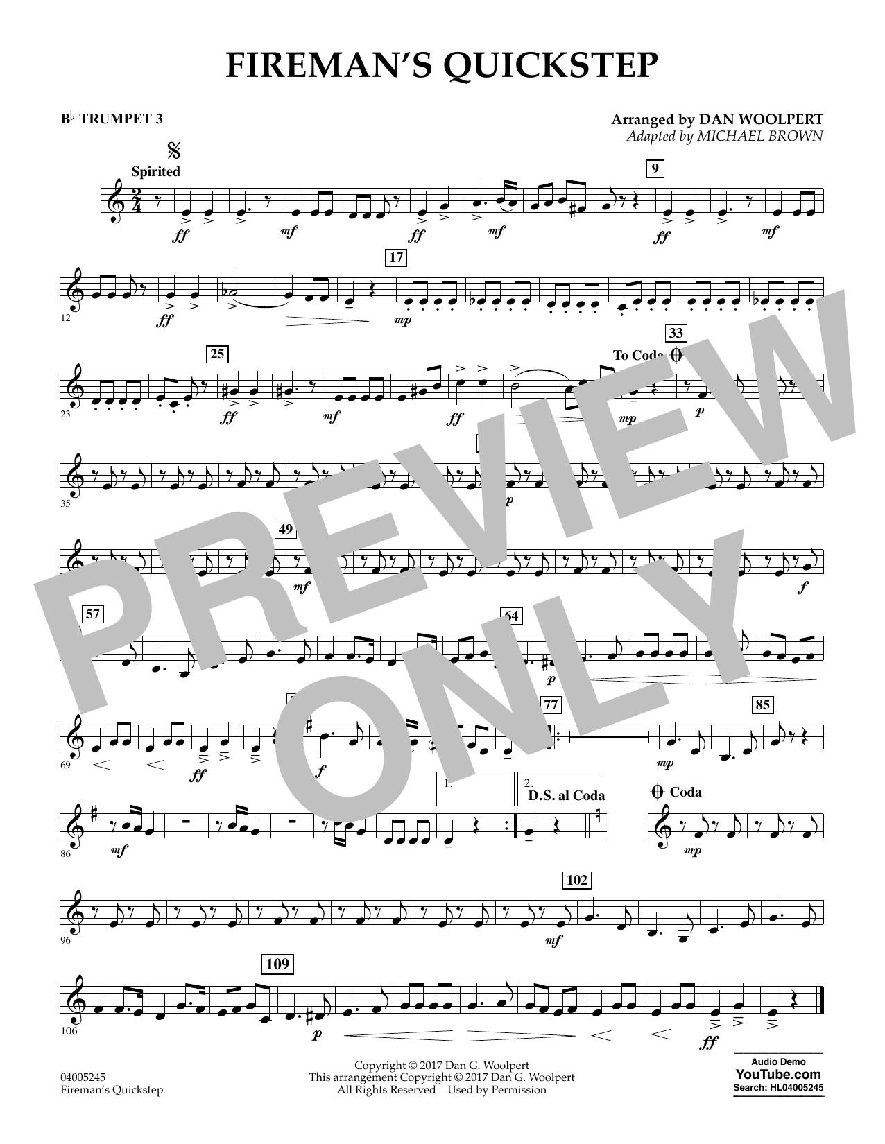 Fireman's Quickstep - Bb Trumpet 3 (Concert Band)