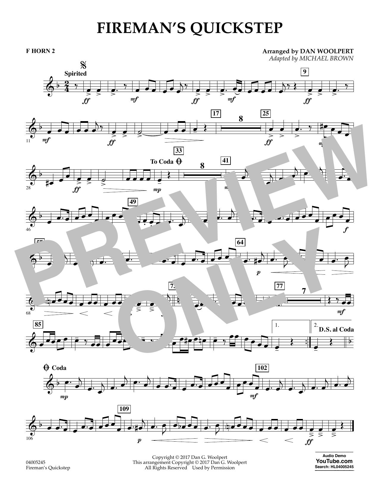 Fireman's Quickstep - F Horn 2 (Concert Band)