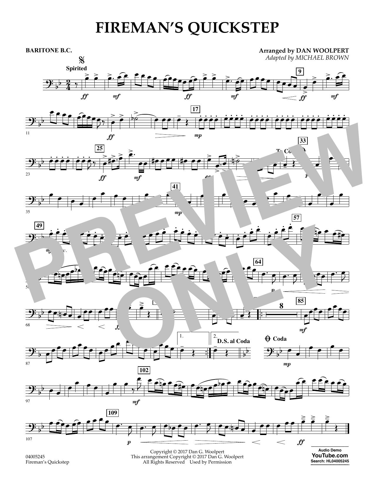 Fireman's Quickstep - Baritone B.C. (Concert Band)