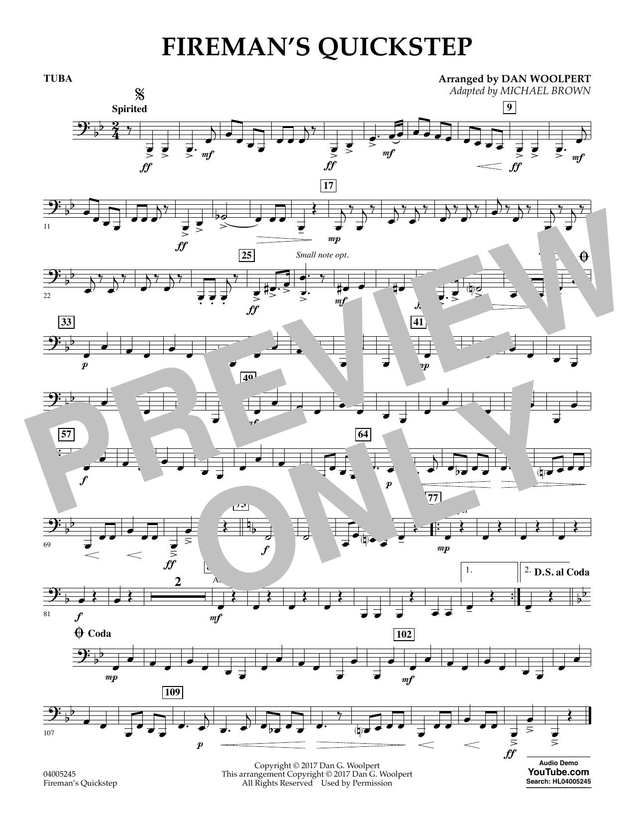 Fireman's Quickstep - Tuba (Concert Band)