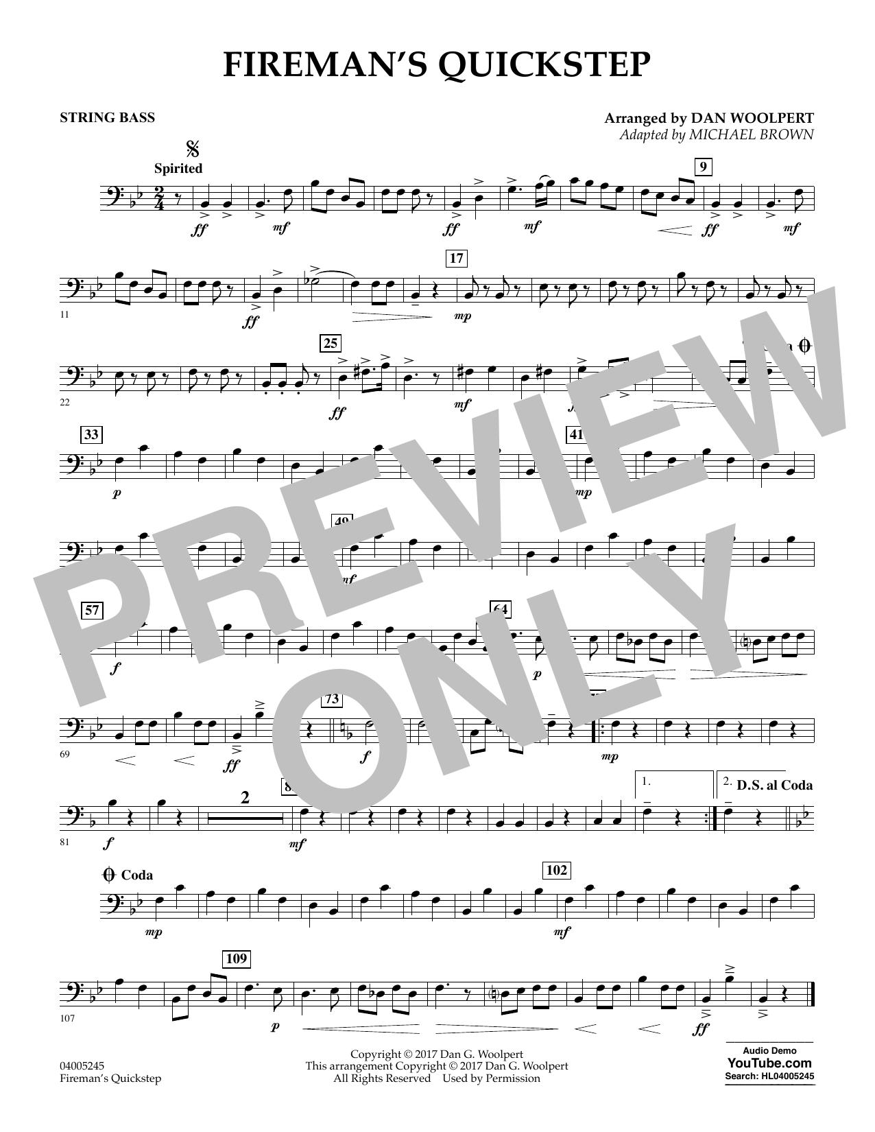 Fireman's Quickstep - String Bass (Concert Band)