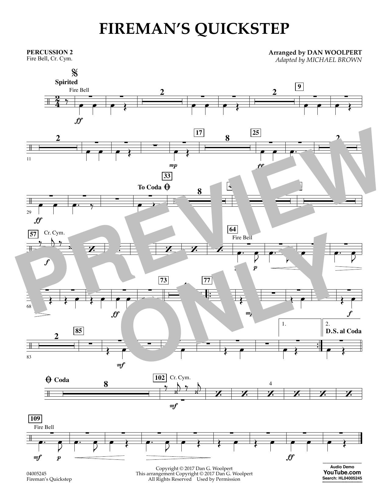 Fireman's Quickstep - Percussion 2 (Concert Band)