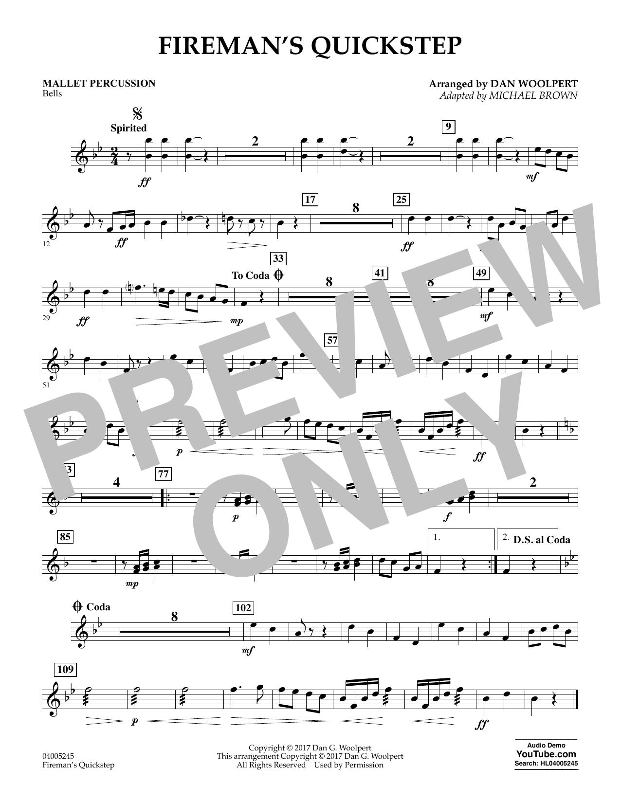 Fireman's Quickstep - Mallet Percussion (Concert Band)