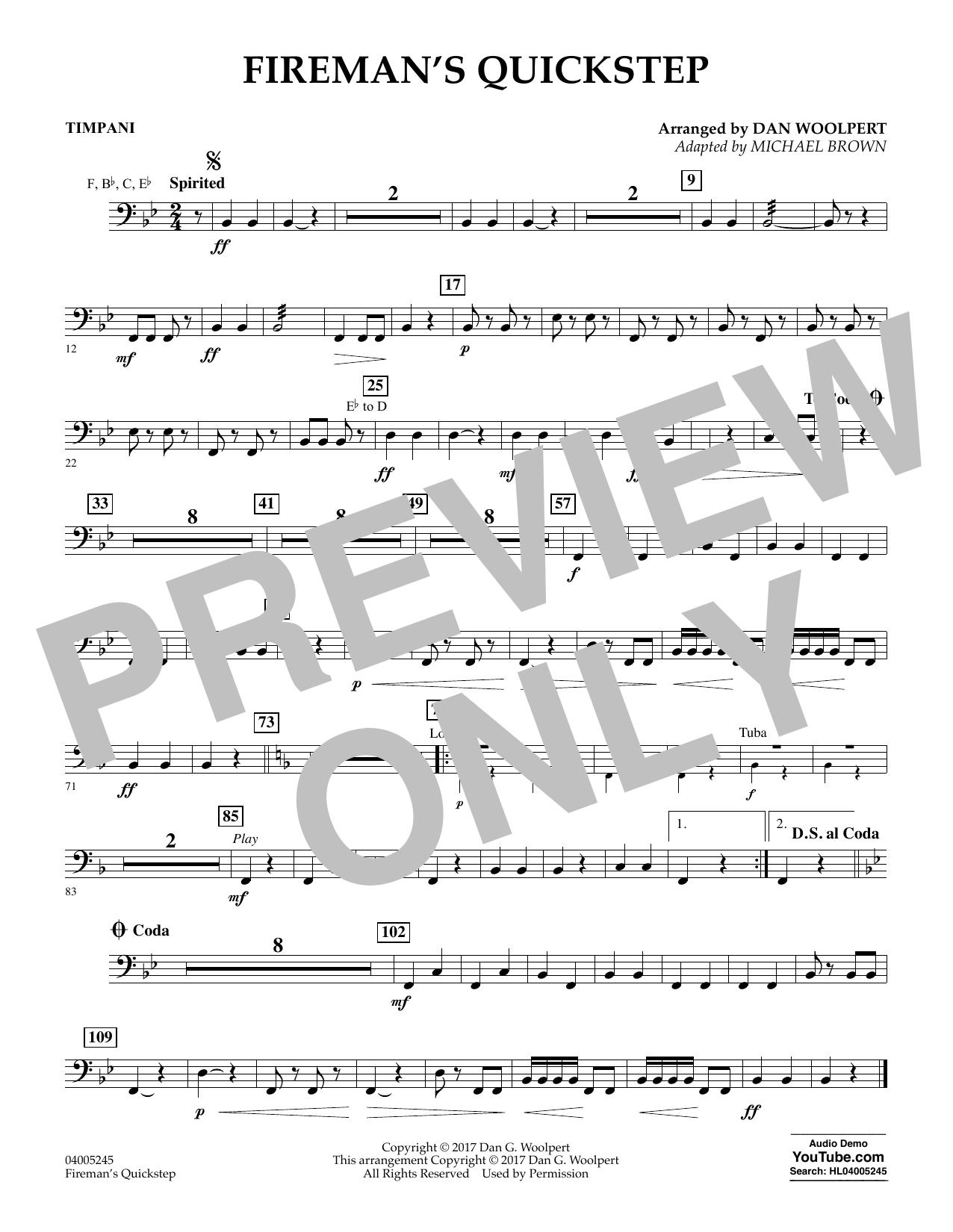 Fireman's Quickstep - Timpani (Concert Band)