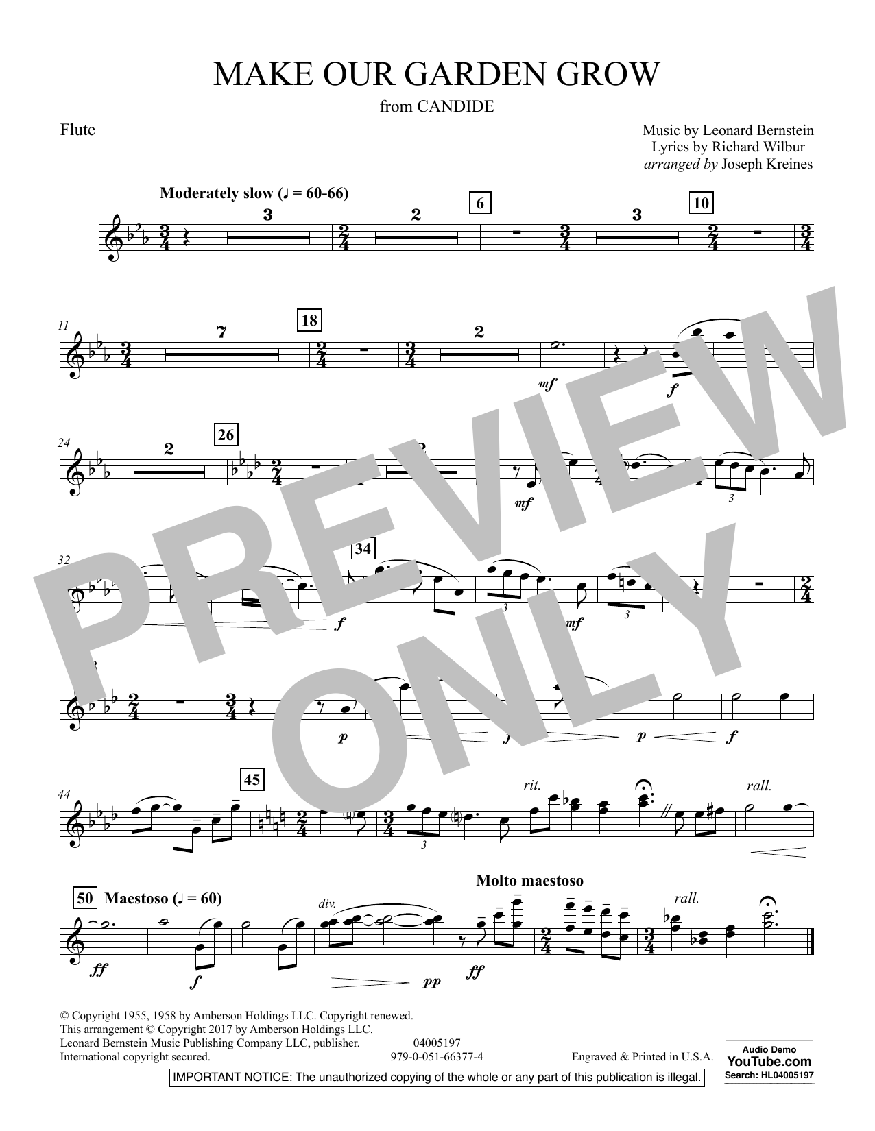 Make Our Garden Grow (from Candide) - Flute (Concert Band)