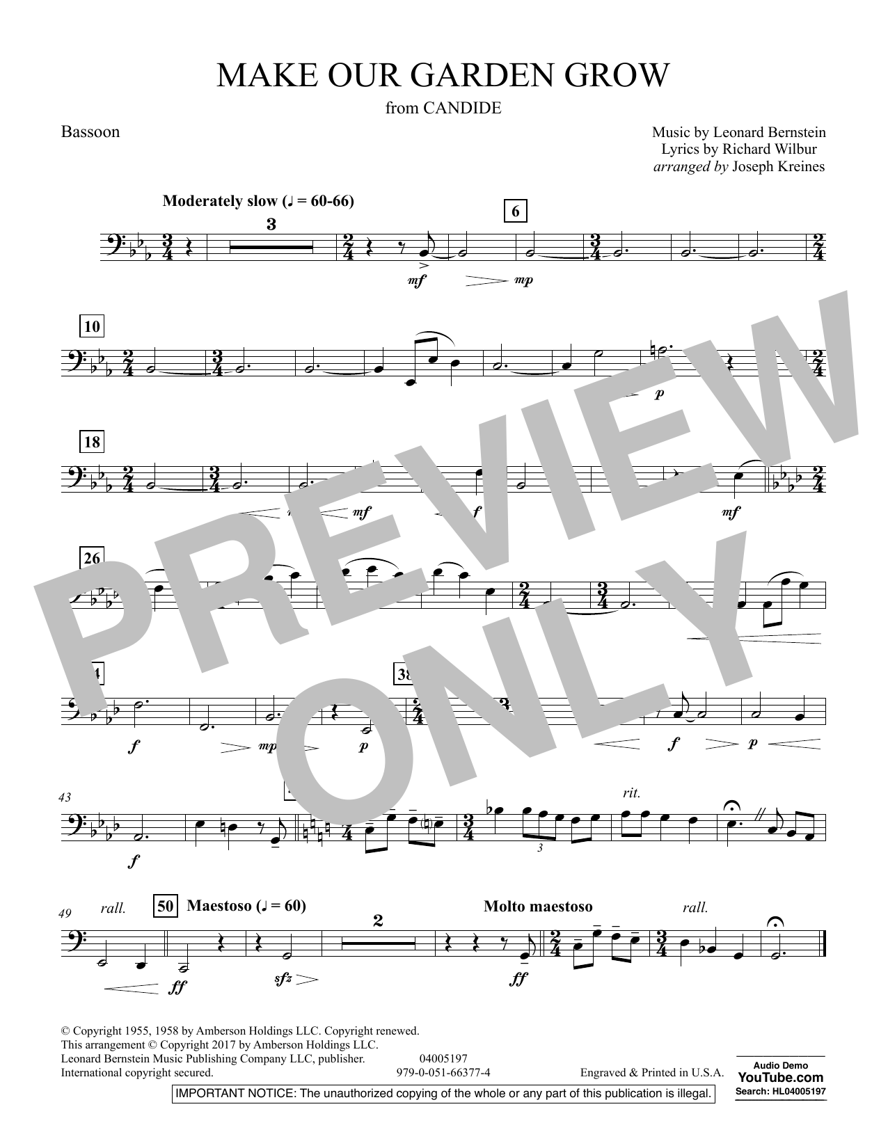 Make Our Garden Grow (from Candide) - Bassoon (Concert Band)