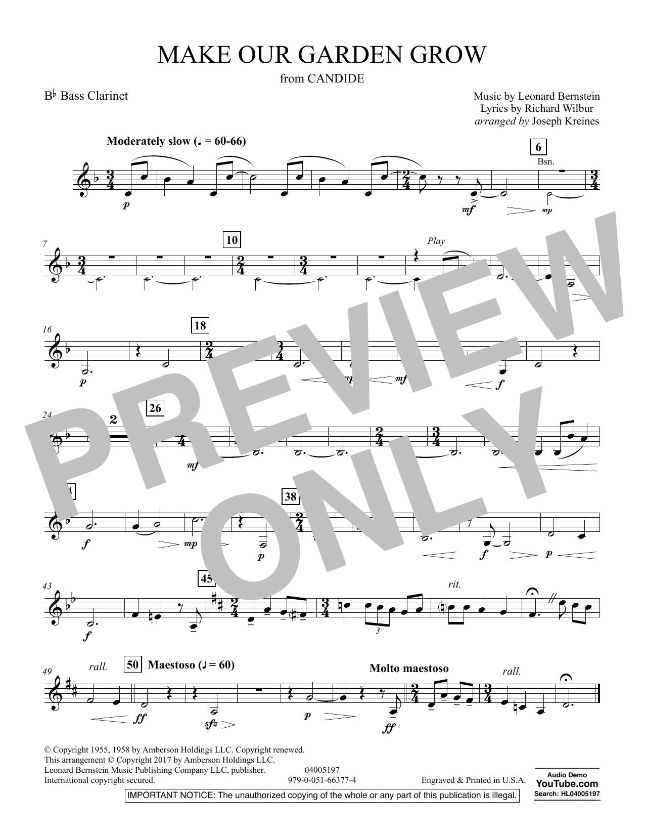 Make Our Garden Grow (from Candide) - Bb Bass Clarinet (Concert Band)
