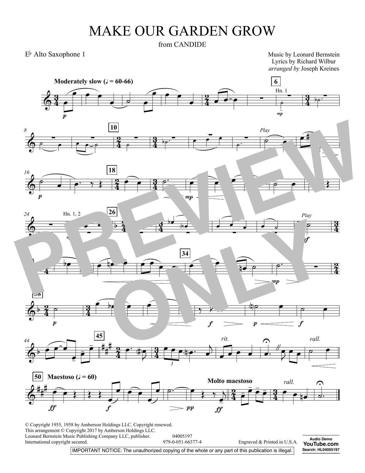 Make Our Garden Grow (from Candide) - Eb Alto Saxophone 1 (Concert Band)