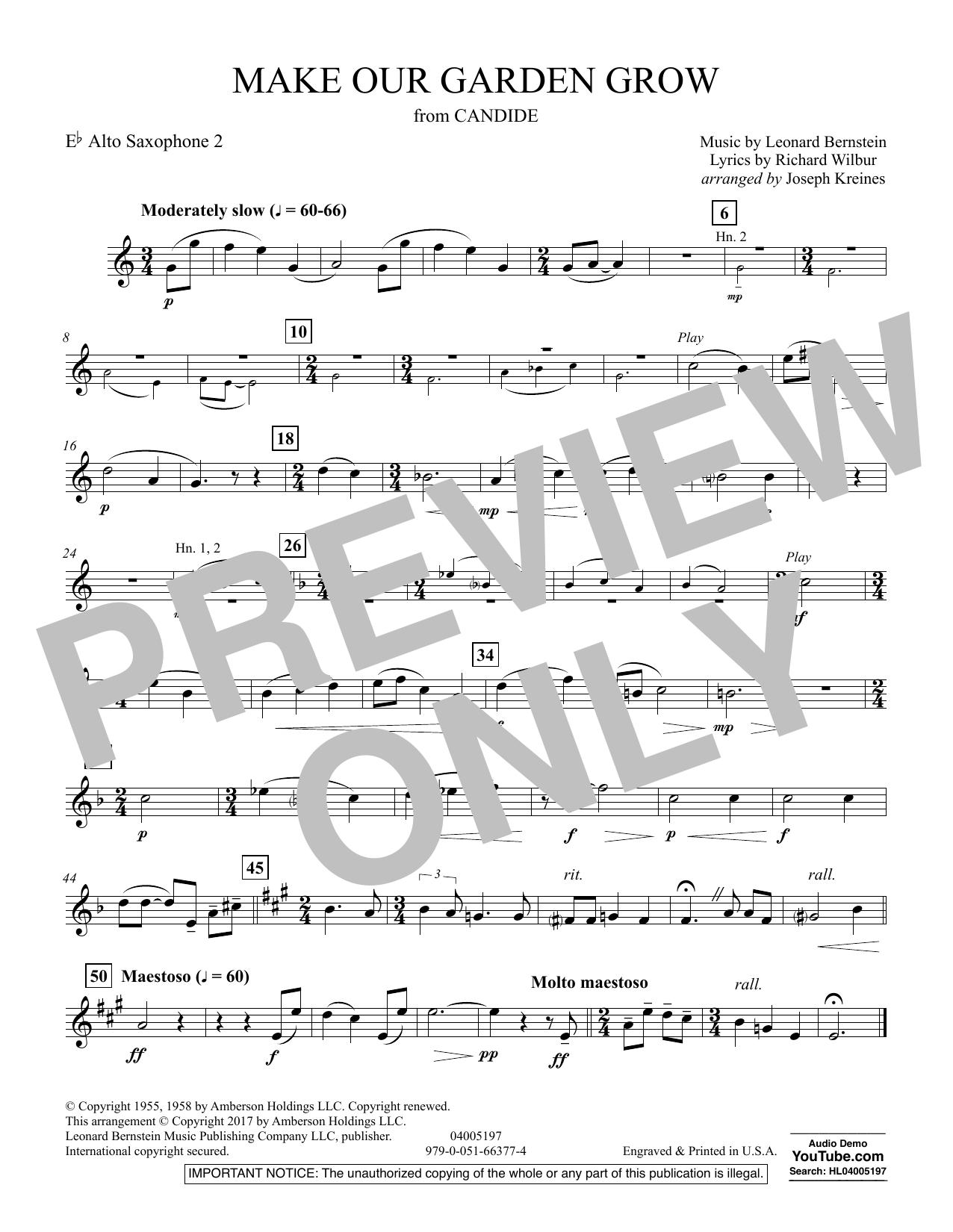 Make Our Garden Grow (from Candide) - Eb Alto Saxophone 2 (Concert Band)