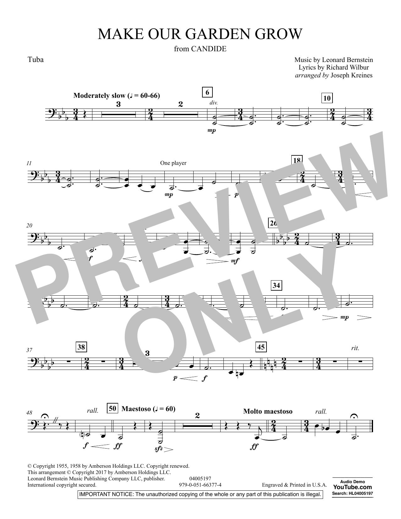 Make Our Garden Grow (from Candide) - Tuba (Concert Band)