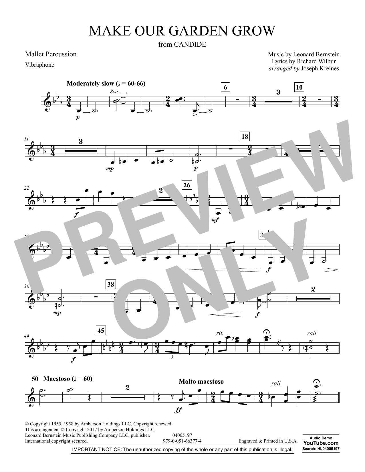 Make Our Garden Grow (from Candide) - Mallet Percussion (Concert Band)