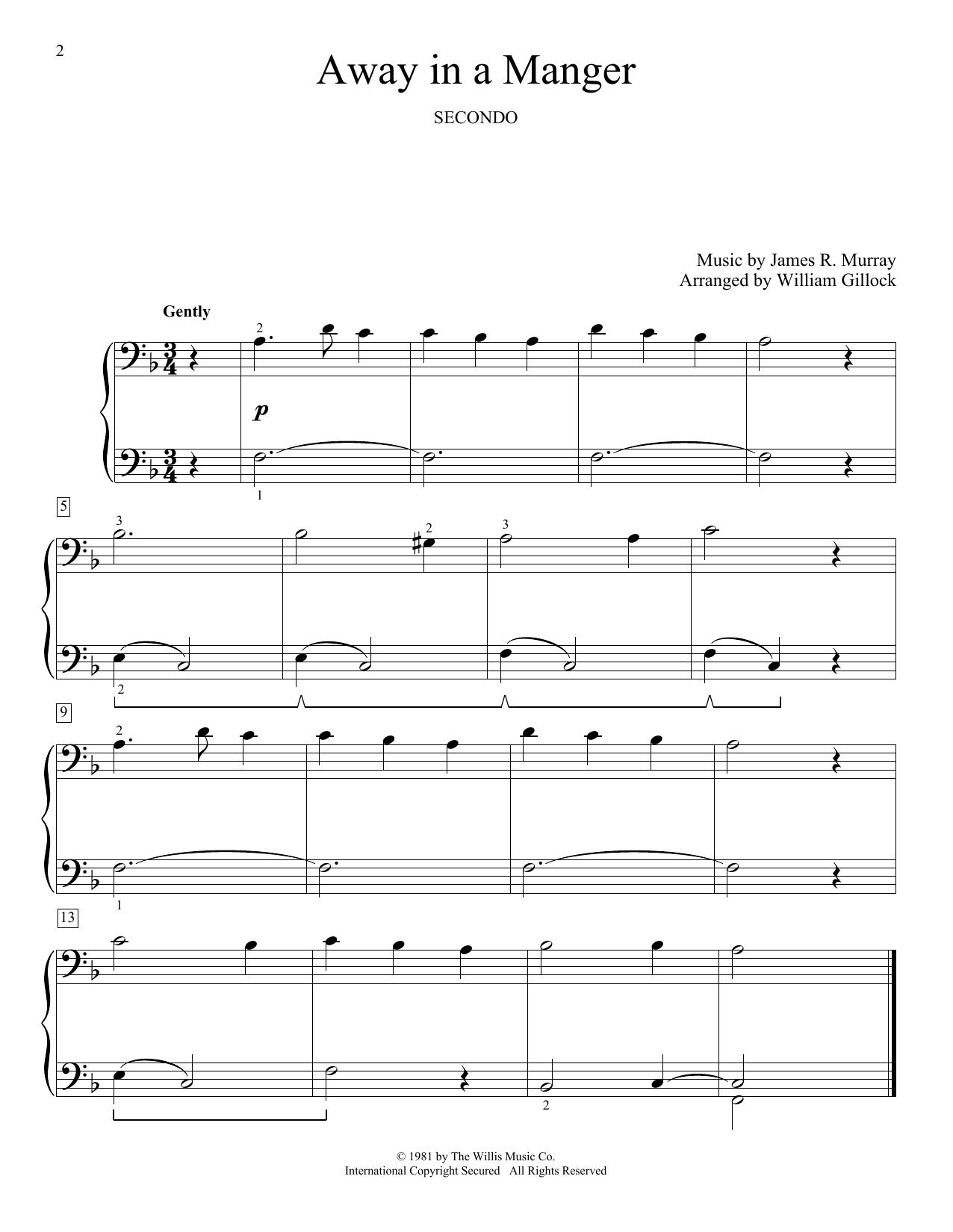 Away In A Manger (Piano Duet)