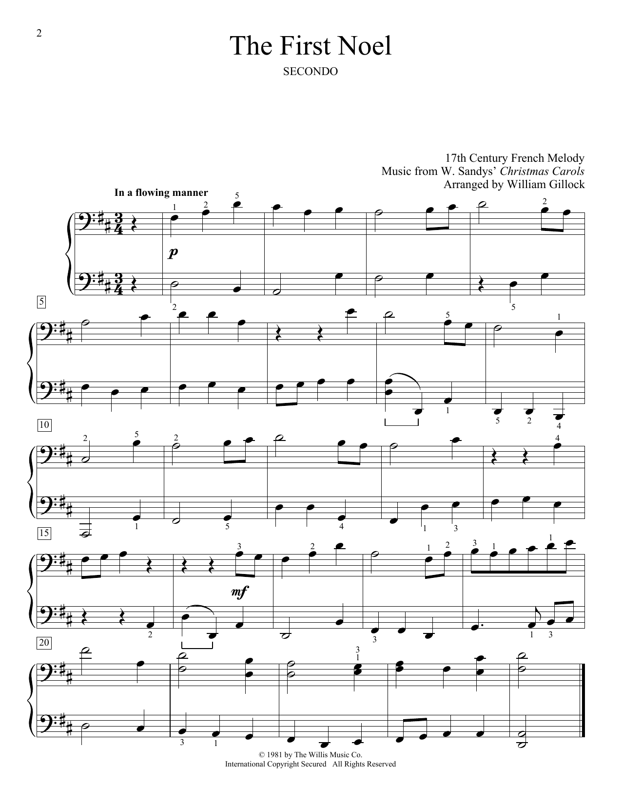 The First Noel (Piano Duet)
