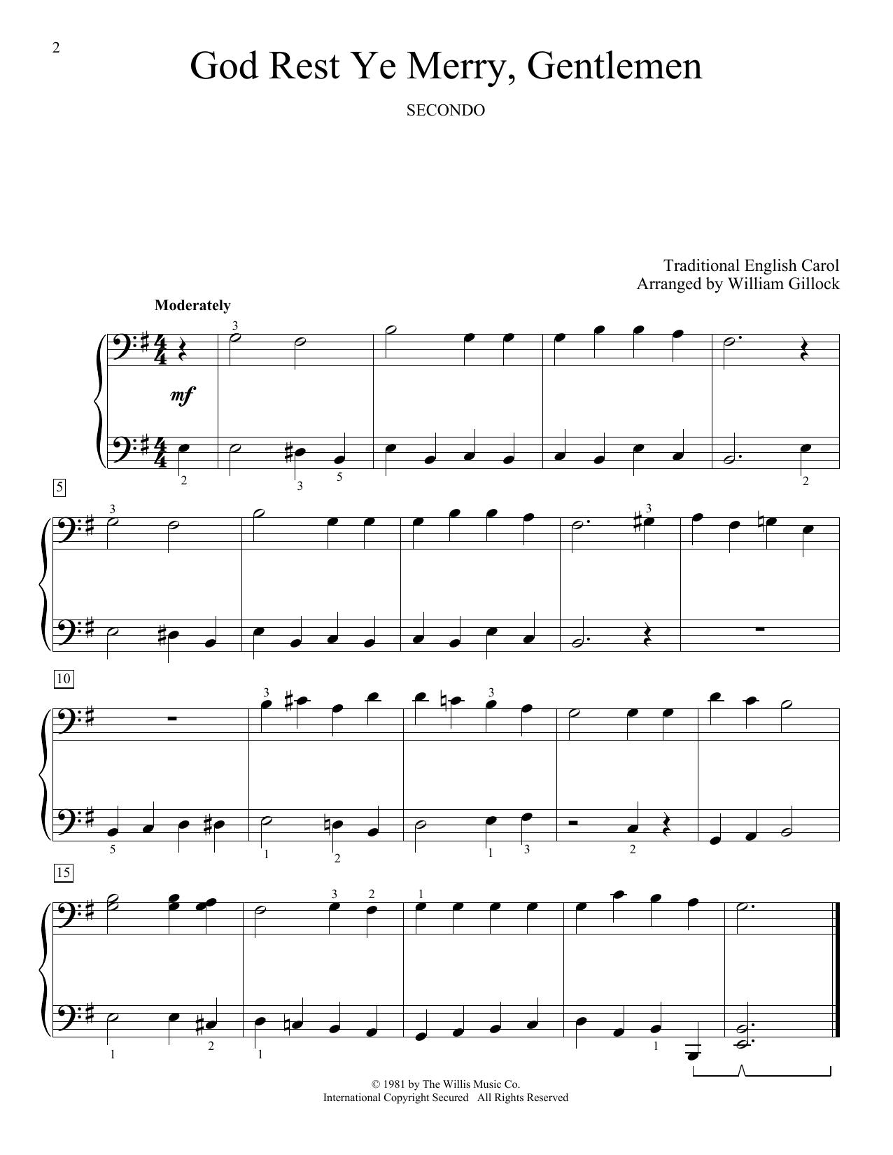 God Rest Ye Merry, Gentlemen (Piano Duet)