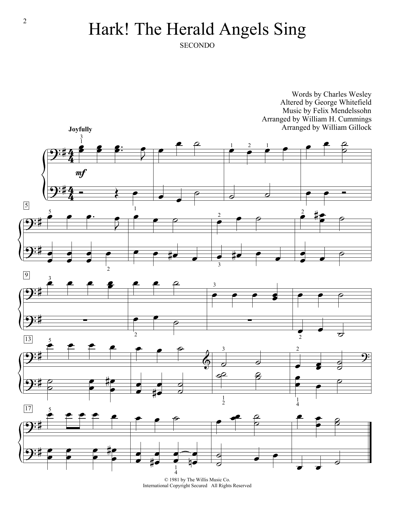 Hark The Herald Angels Sing Sheet Music To Download