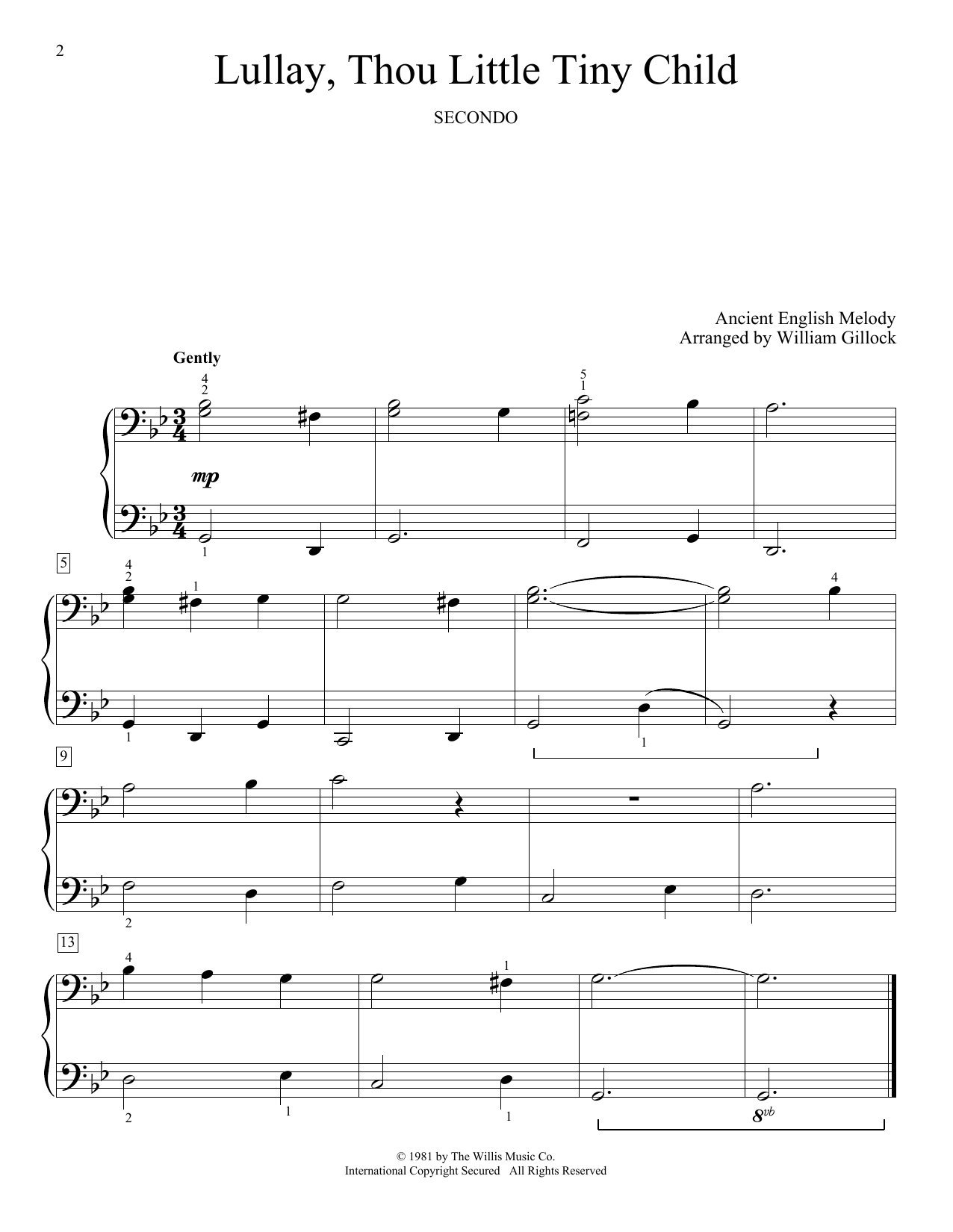 Lullay, Thou Little Tiny Child (Piano Duet)