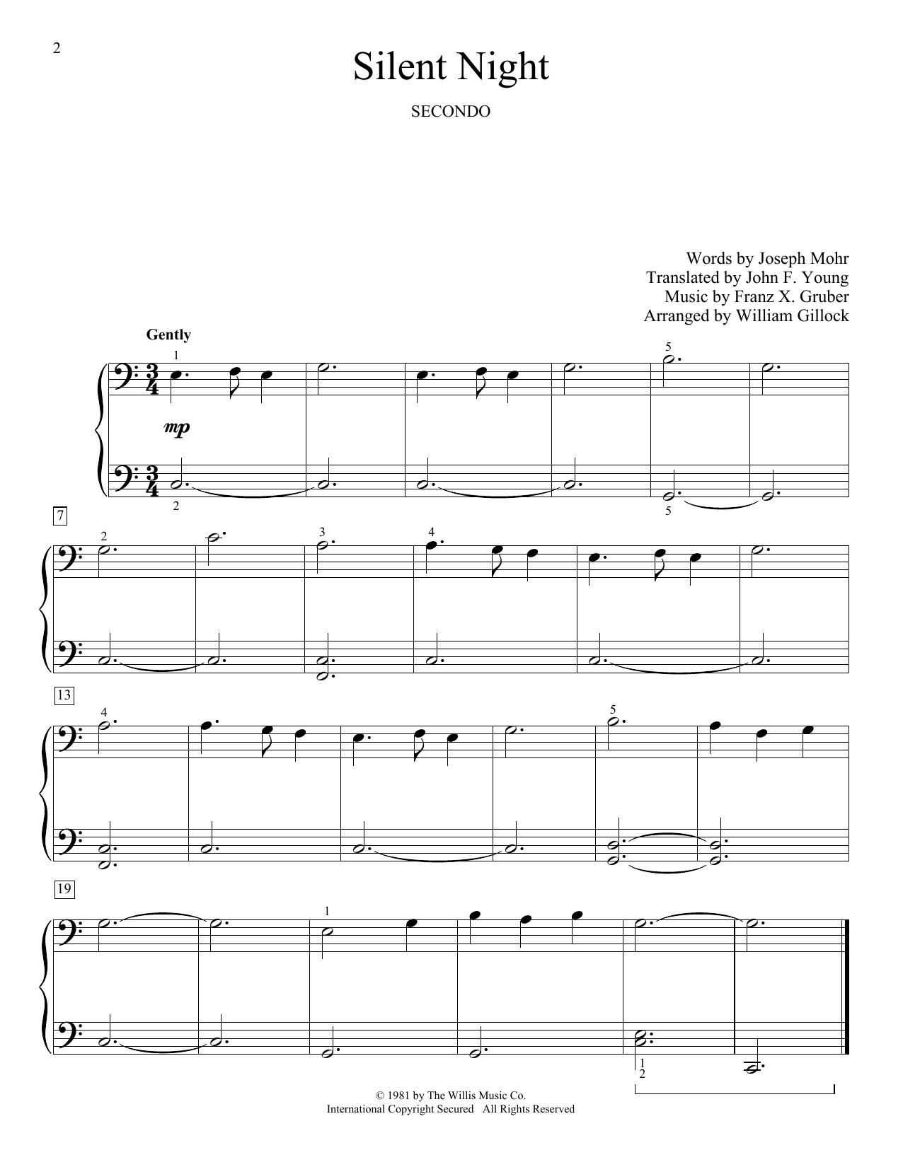 Silent Night (Piano Duet)