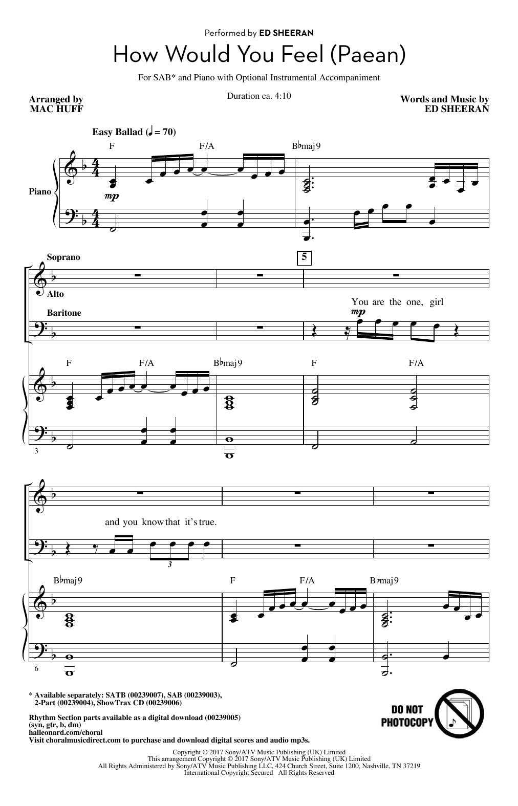 How Would You Feel (Paean) (arr. Mac Huff) (SAB Choir)