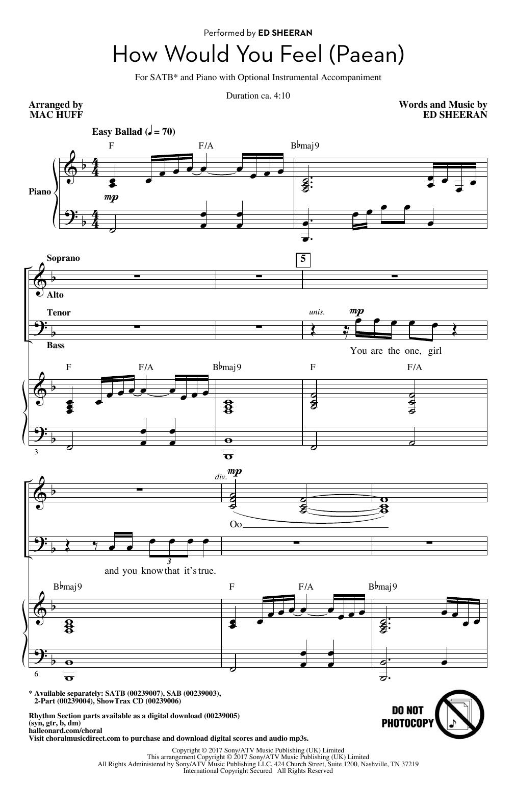 How Would You Feel (Paean) (arr. Mac Huff) (SATB Choir)