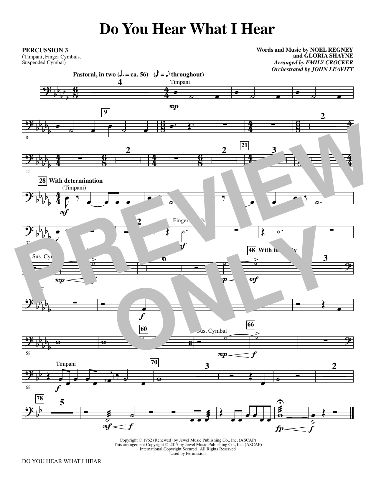Do You Hear What I Hear - Percussion 3 (Choral Instrumental Pak)