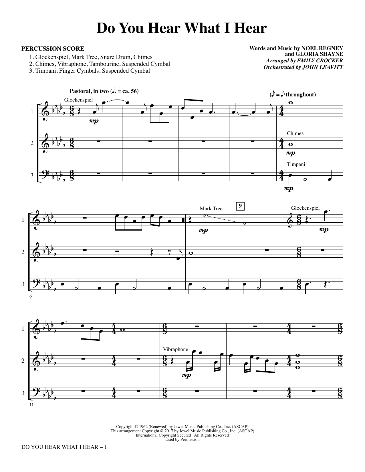 Do You Hear What I Hear - Percussion Score (Choral Instrumental Pak)
