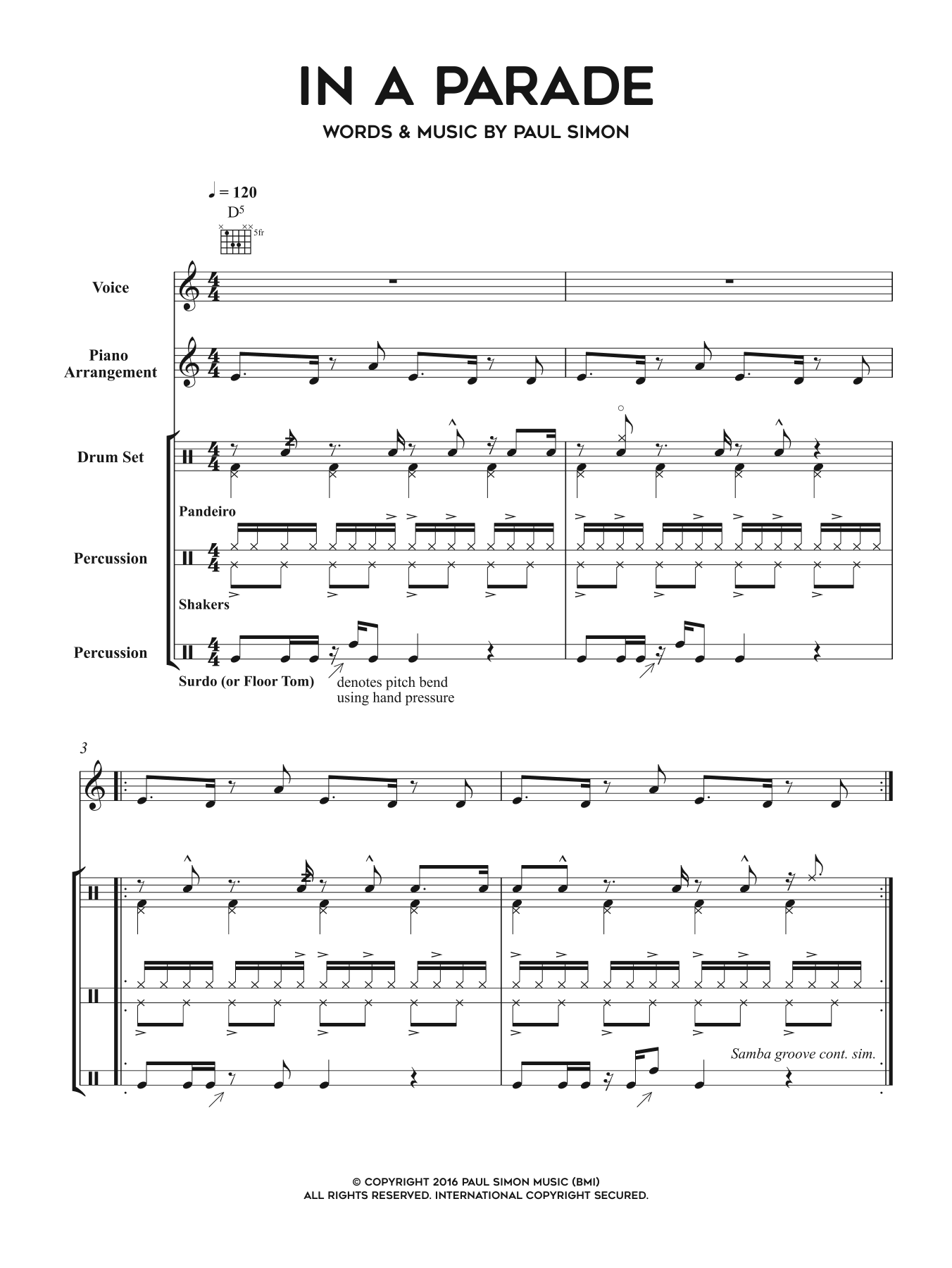 In A Parade Sheet Music