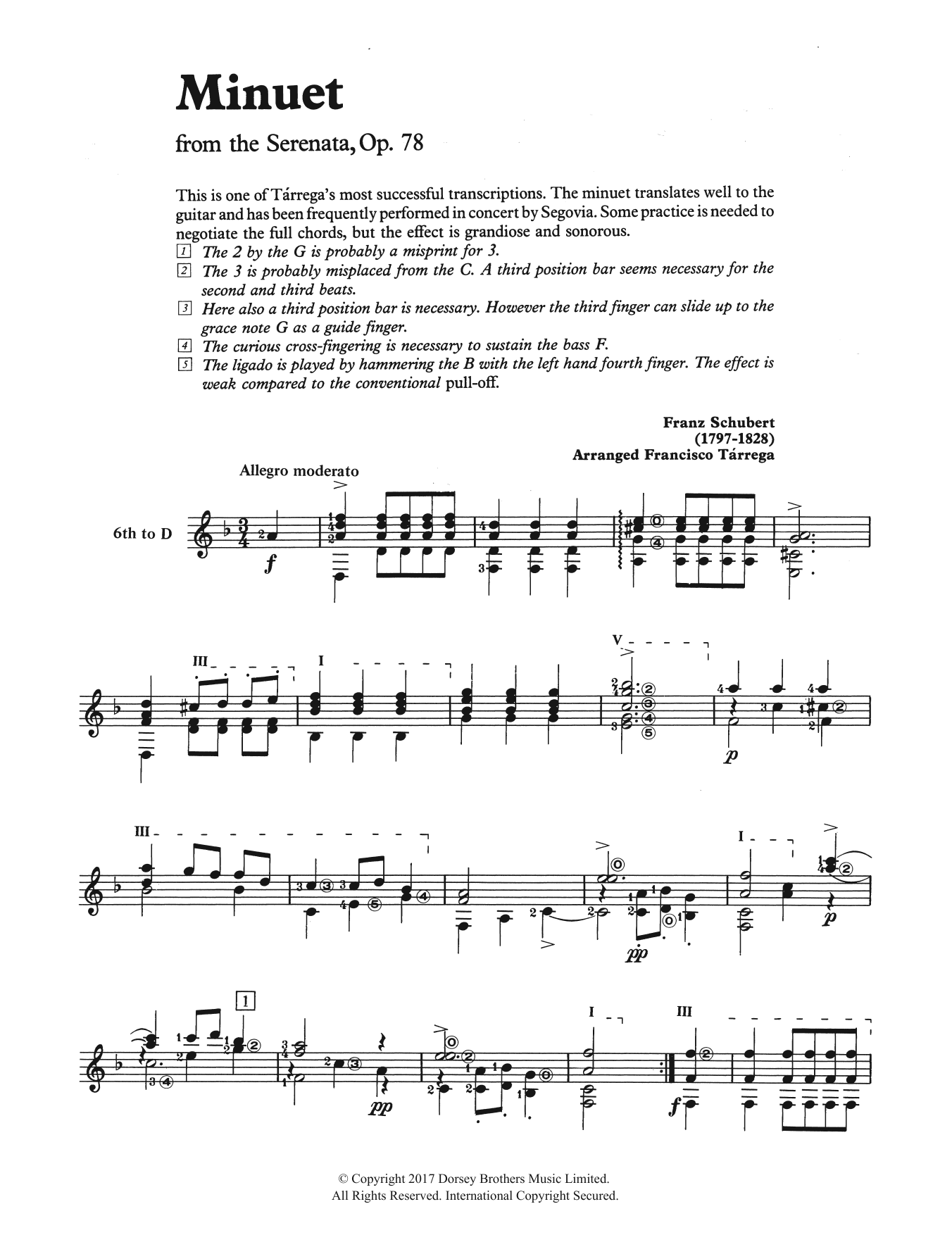 Minuet (from the Serenata, Op. 78) Sheet Music