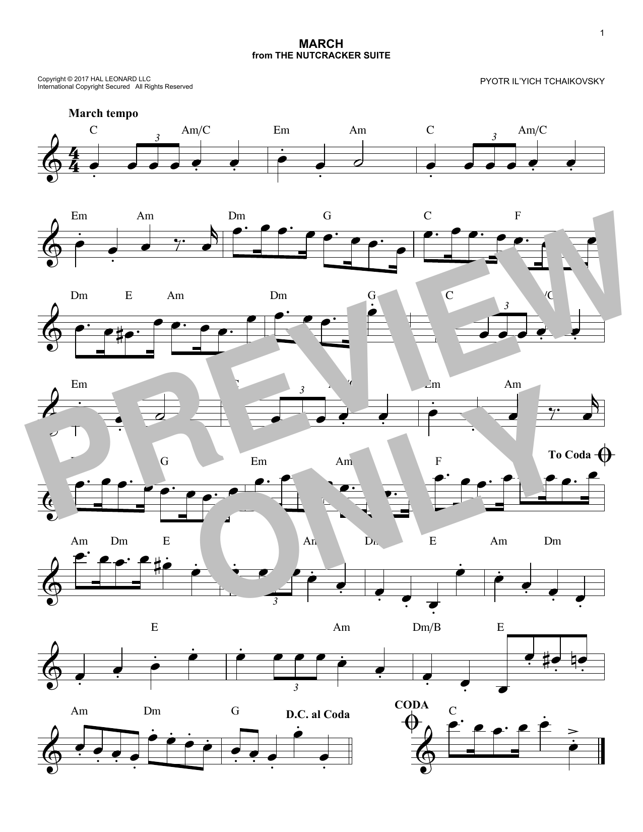 March (Lead Sheet / Fake Book)