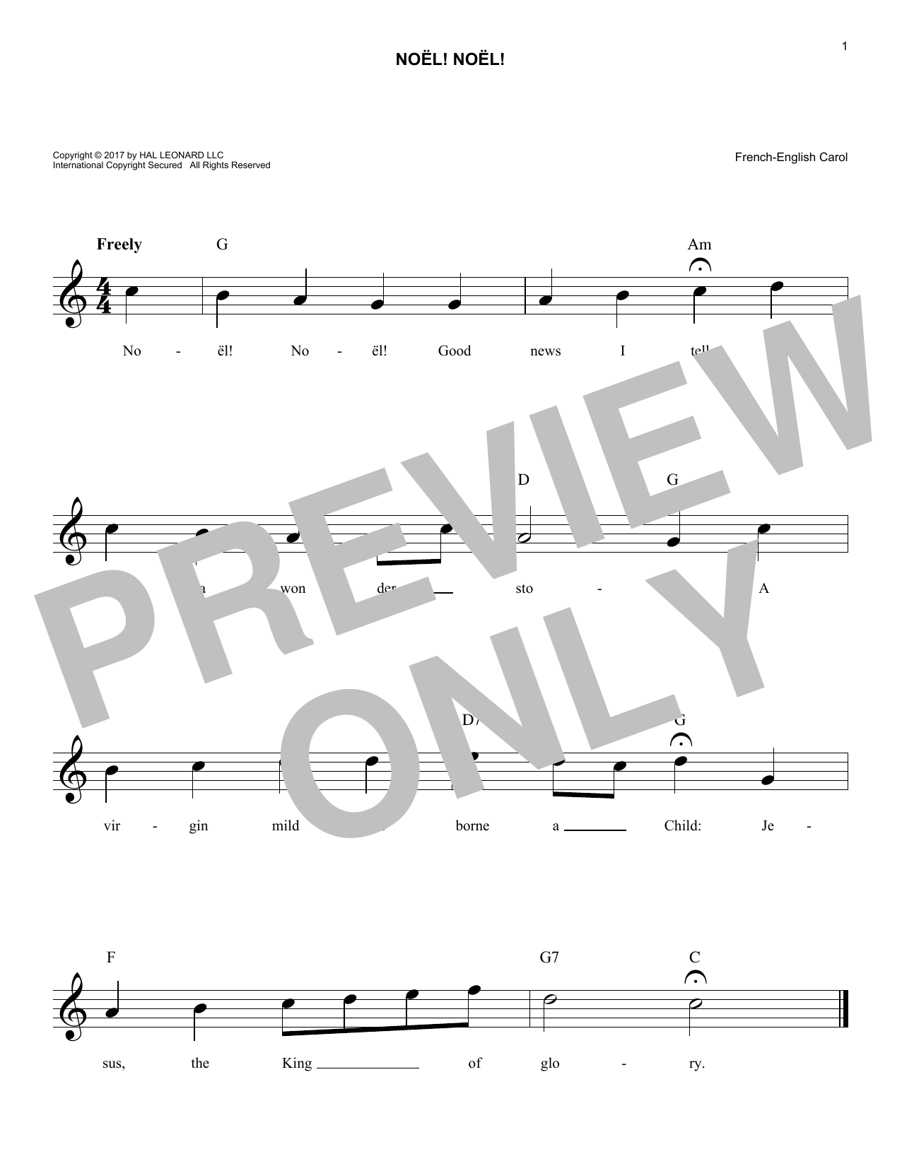 Noel! Noel! (Lead Sheet / Fake Book)