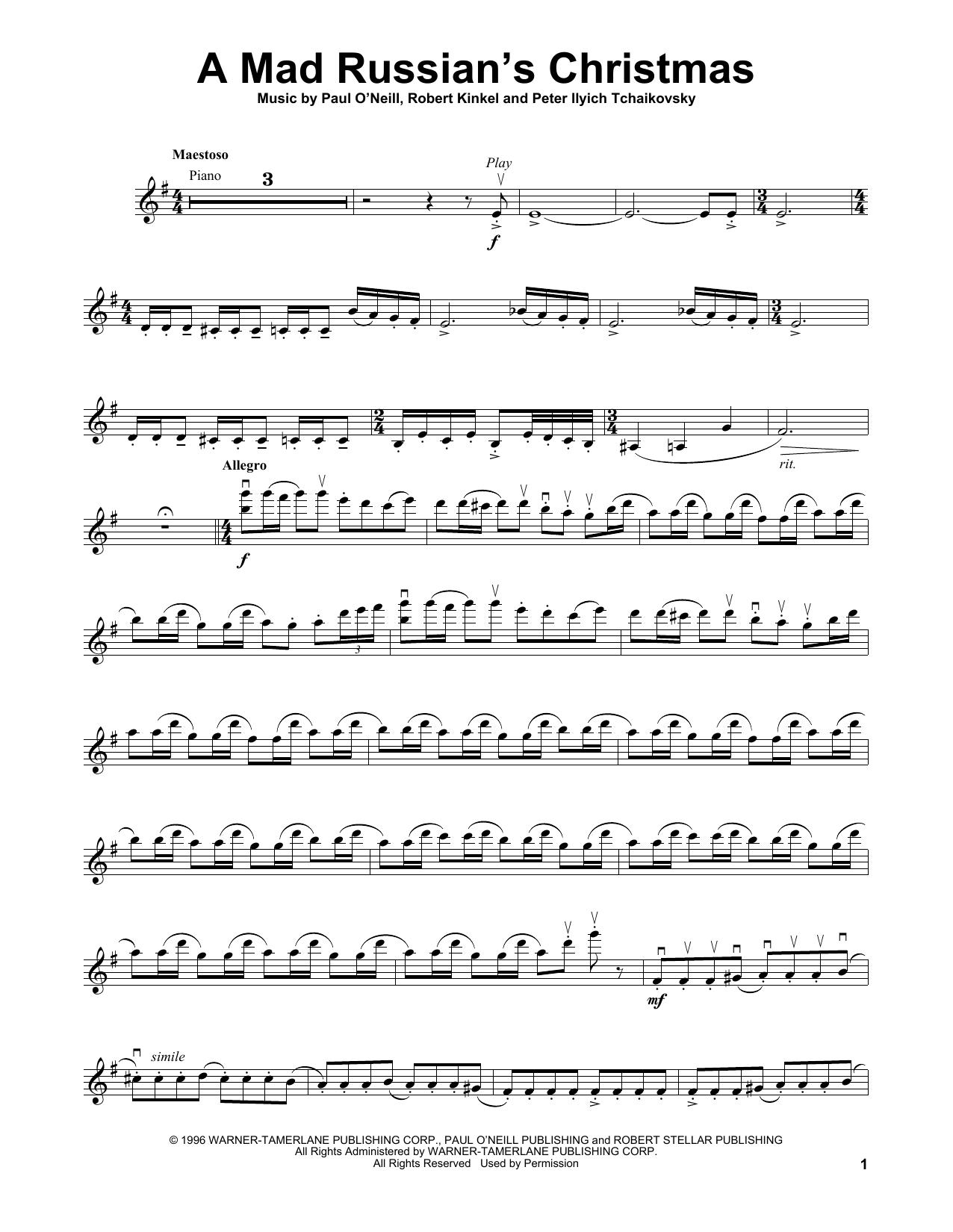 A Mad Russian's Christmas (Violin Solo)