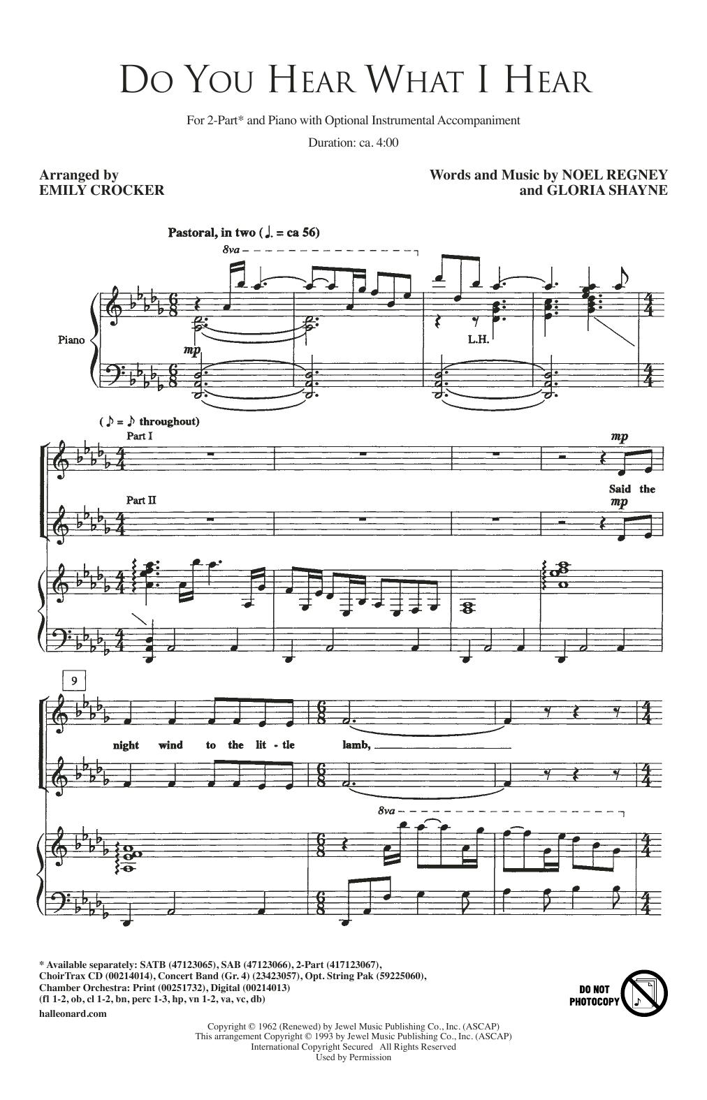 Do You Hear What I Hear (2-Part Choir)