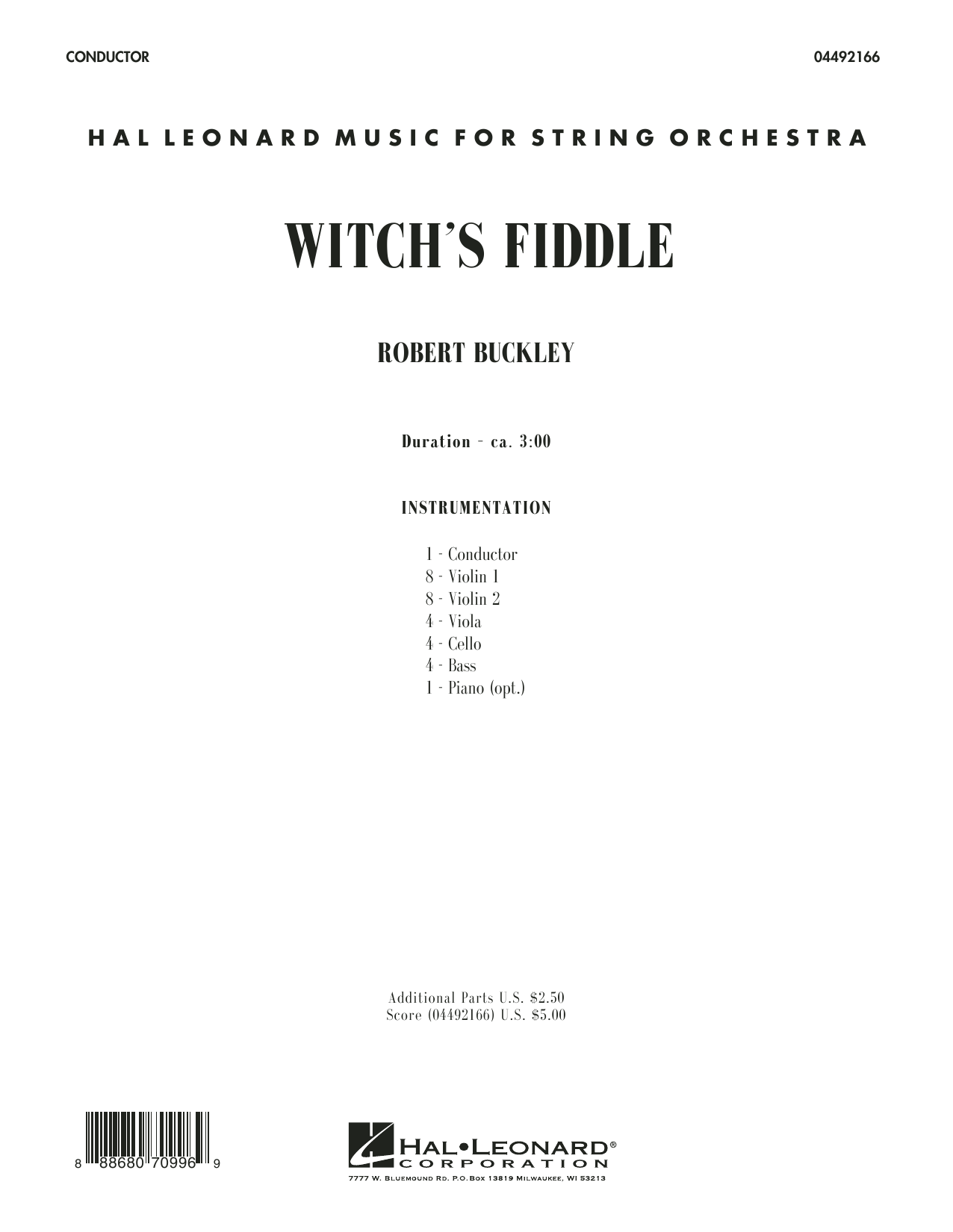 Witch's Fiddle (COMPLETE) sheet music for orchestra by Robert Buckley. Score Image Preview.
