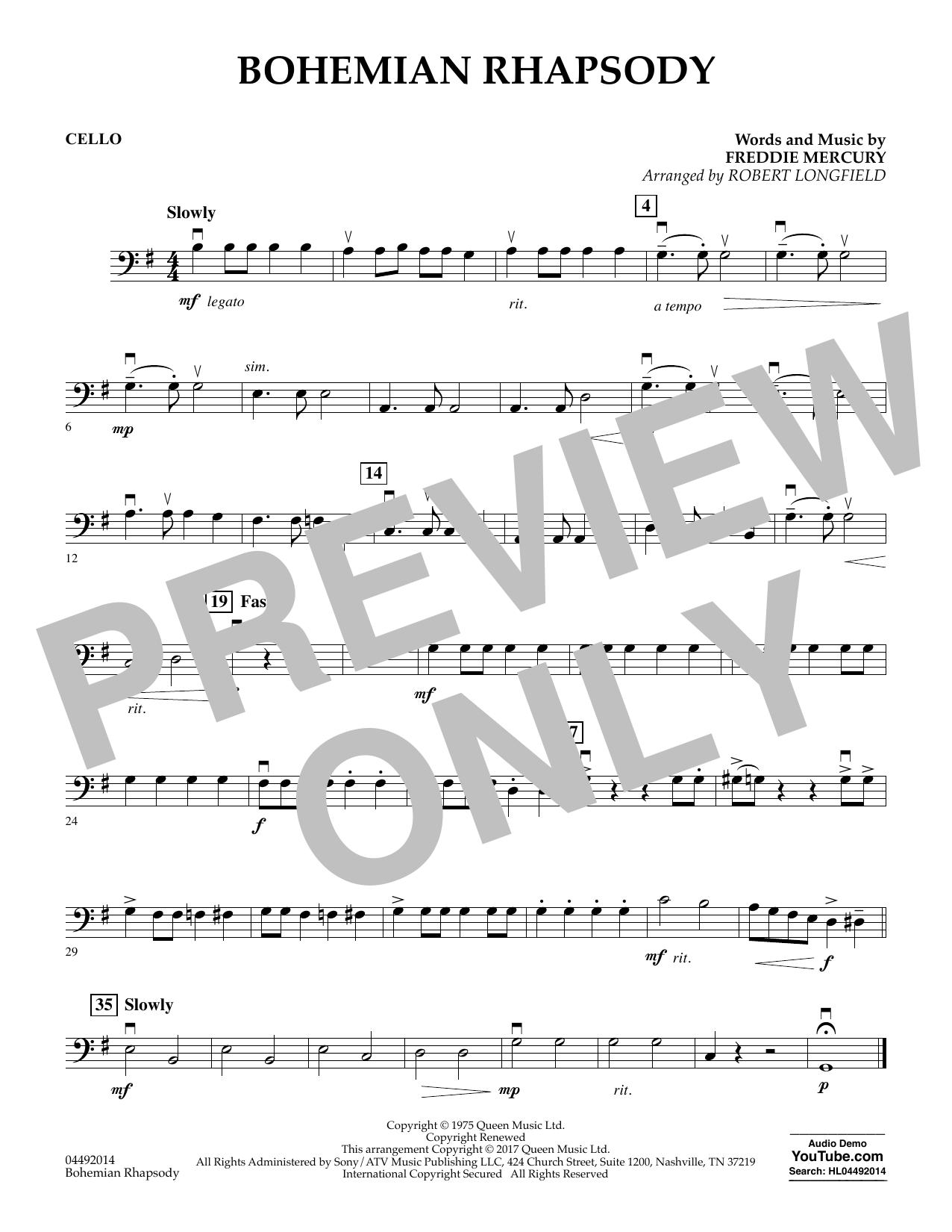 Bohemian Rhapsody - Cello (Orchestra)