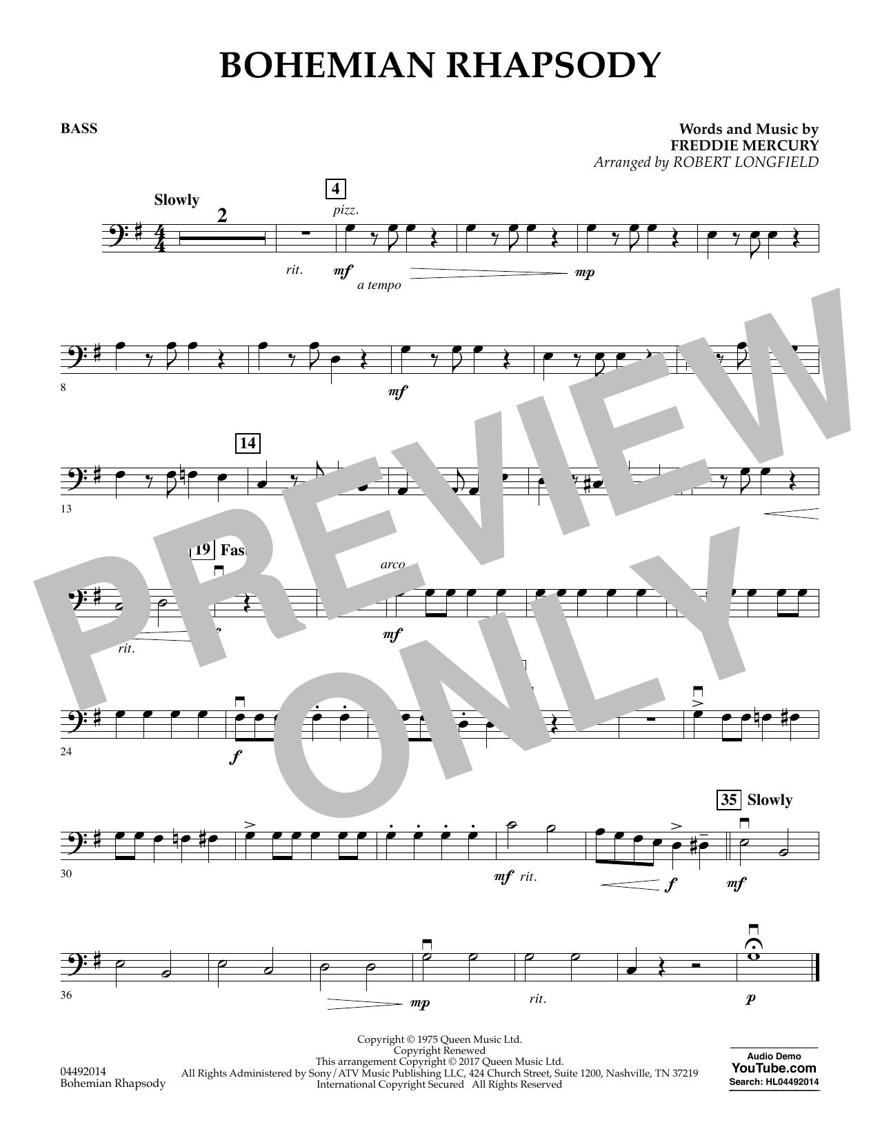 Bohemian Rhapsody - String Bass (Orchestra)