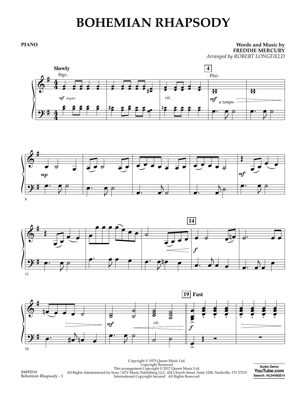 bohemian rhapsody easy piano free pdf