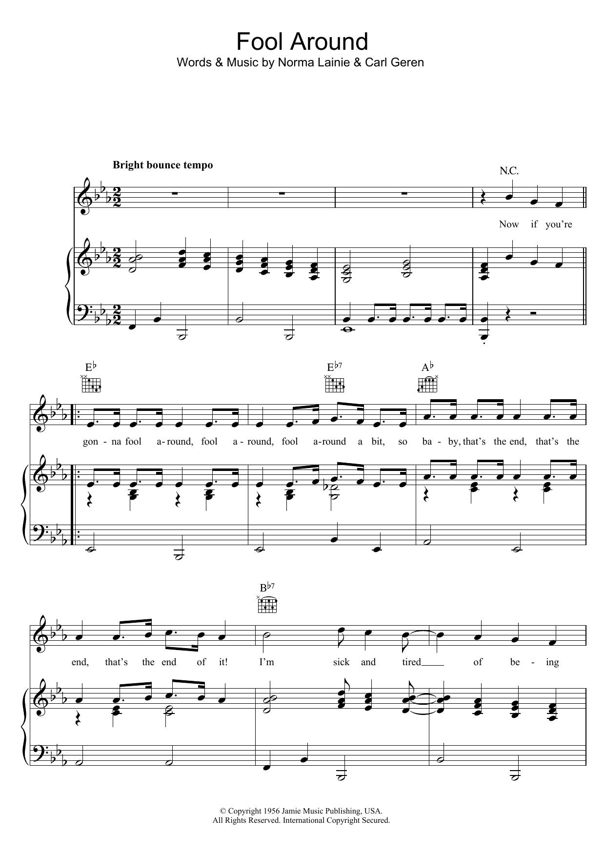Fool Around (Piano, Vocal & Guitar)