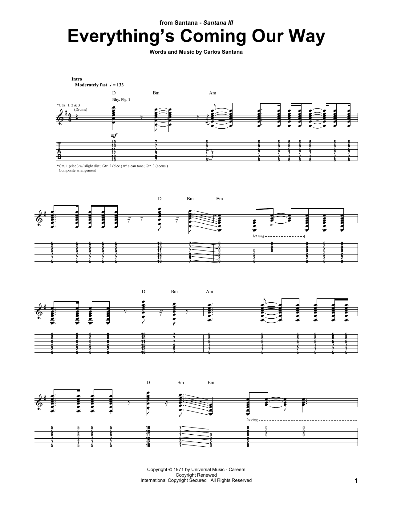 Everything's Coming Our Way (Guitar Tab)