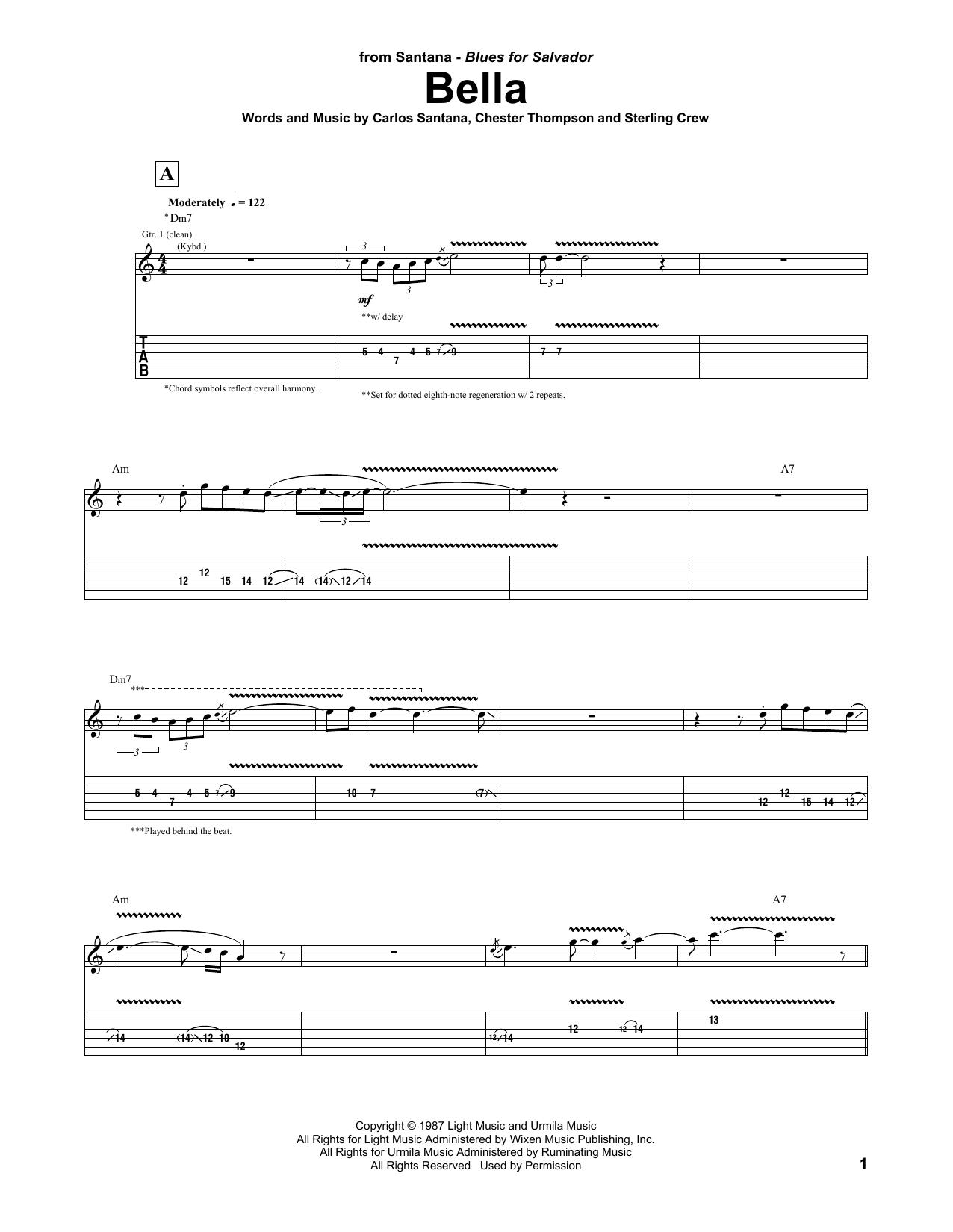 Bella (Guitar Tab)