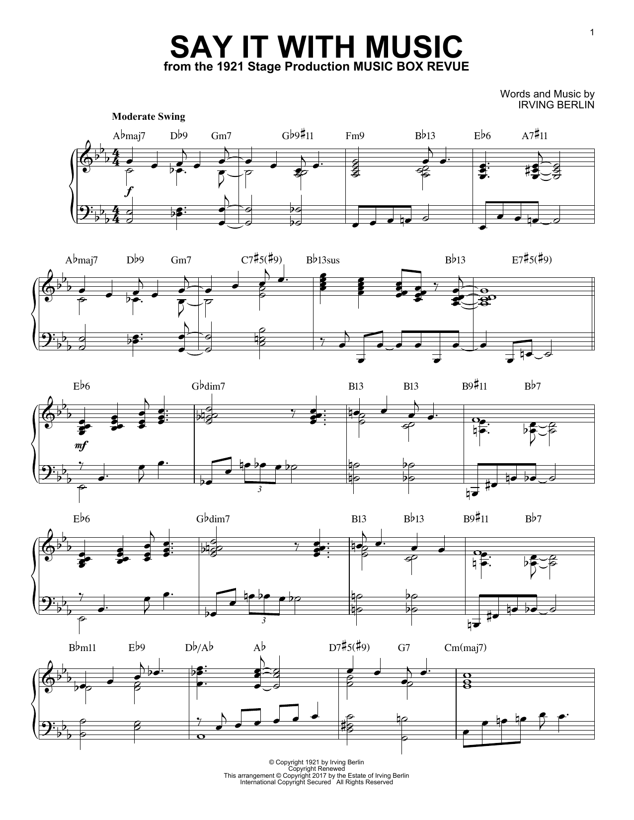 Say It With Music (Piano Solo)