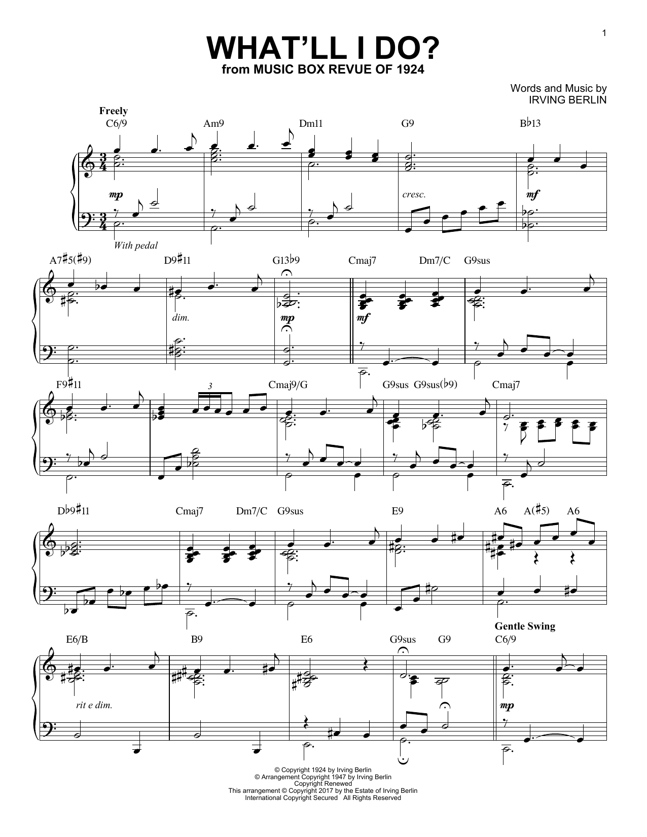 What'll I Do? (Piano Solo)