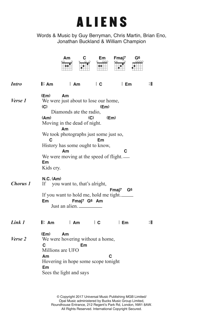 A L I E N S Sheet Music