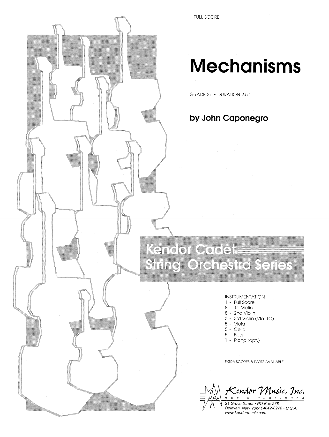 Mechanisms (COMPLETE) sheet music for orchestra by John Caponegro. Score Image Preview.