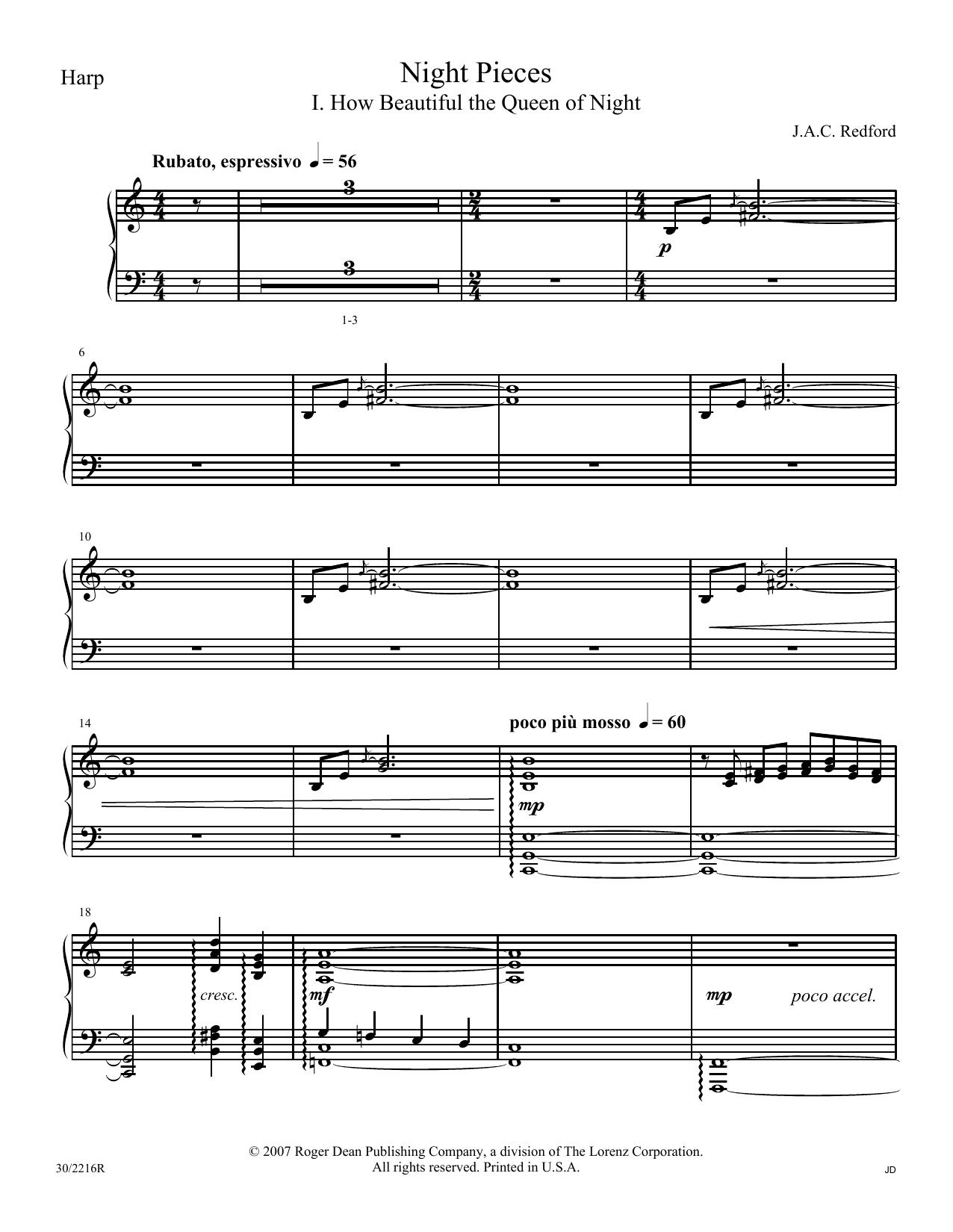 Night Pieces - Harp (Choir Instrumental Pak)