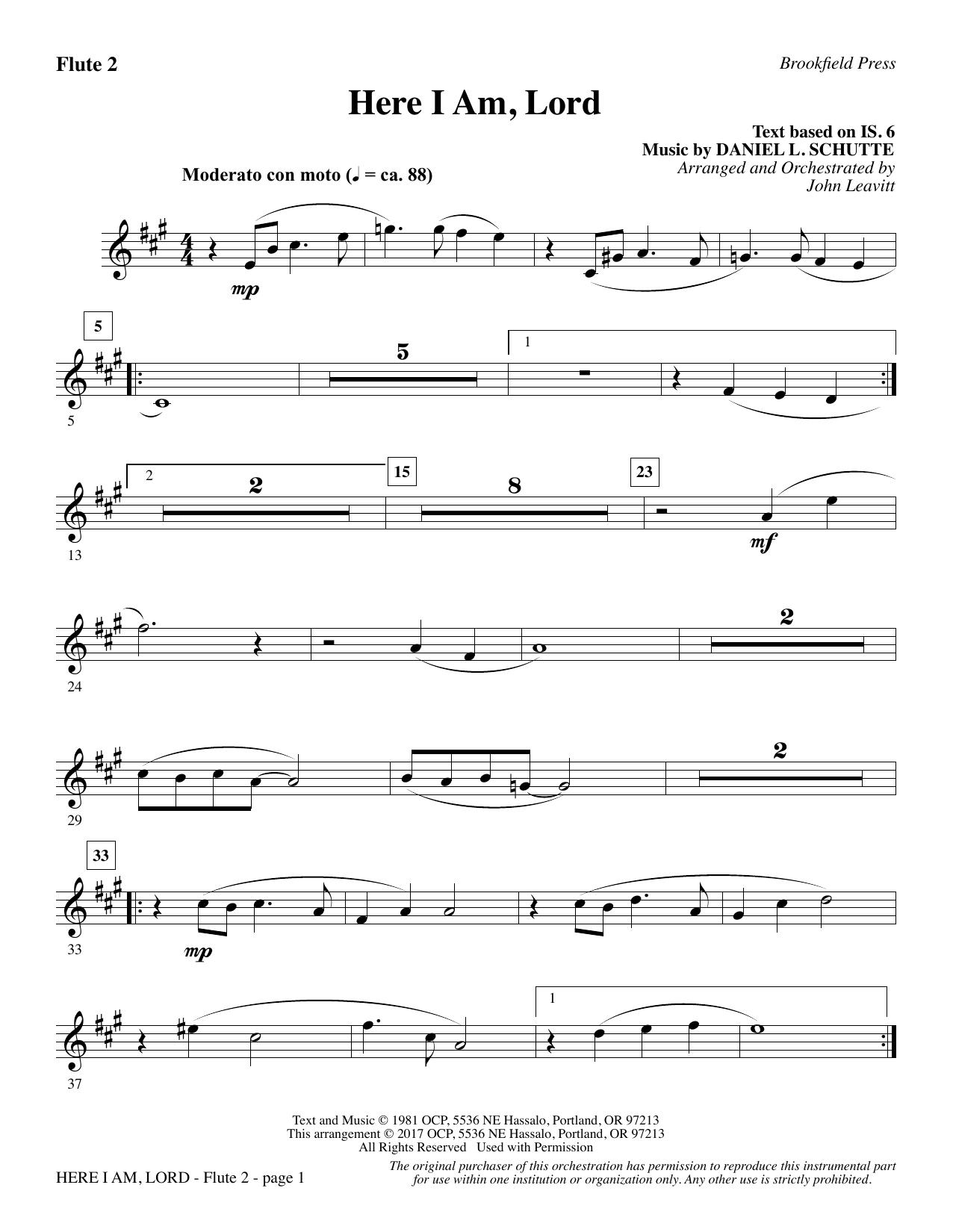Here I Am, Lord - Flute 2 (Choir Instrumental Pak)