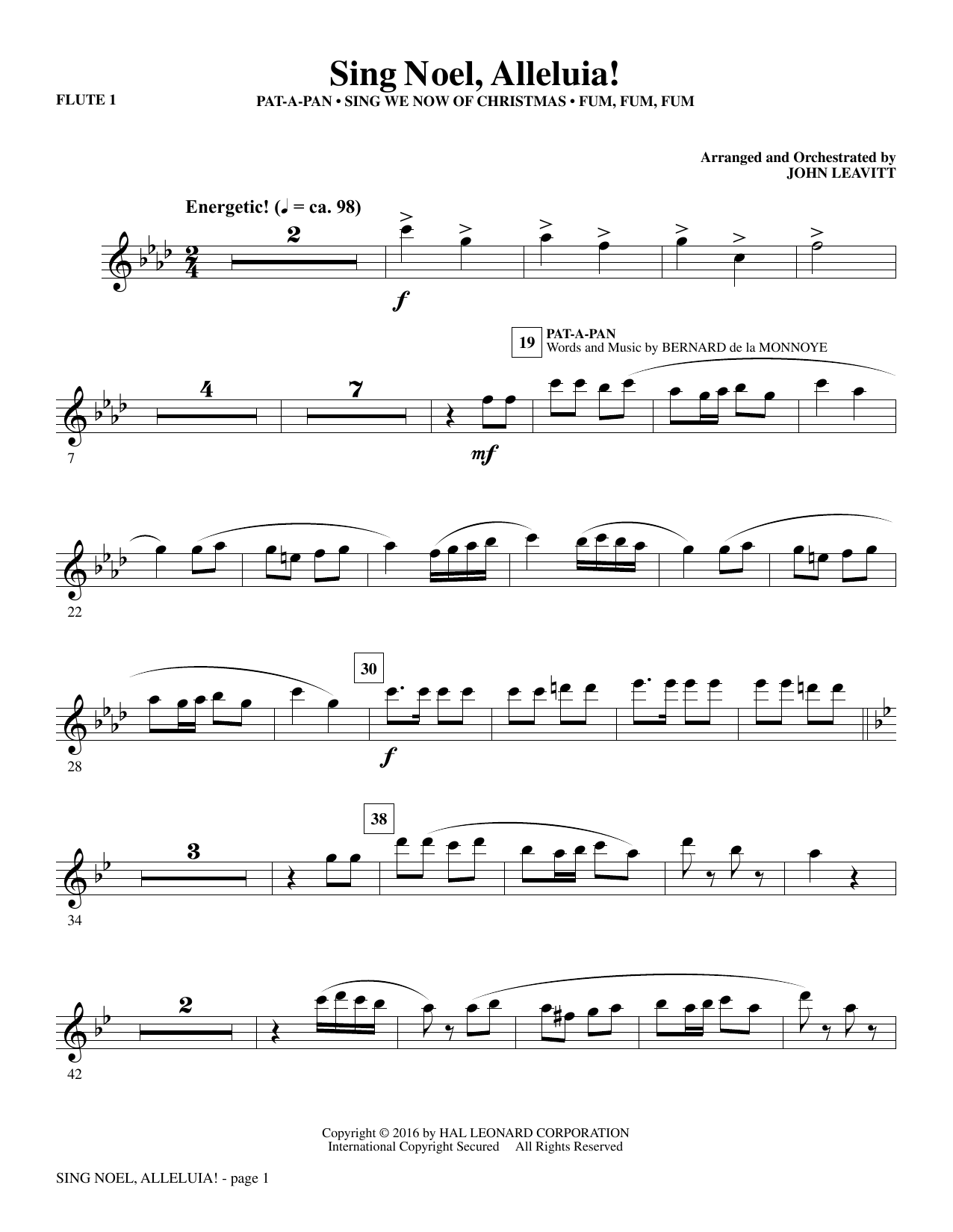 Sing Noel, Alleluia! - Flute 1 (Choir Instrumental Pak)