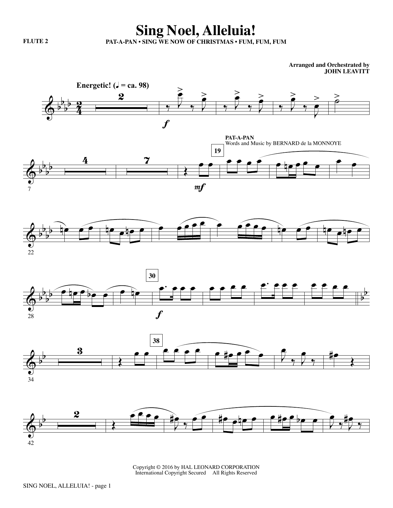 Sing Noel, Alleluia! - Flute 2 by John Leavitt Choral Instrumental Pak  Digital Sheet Music