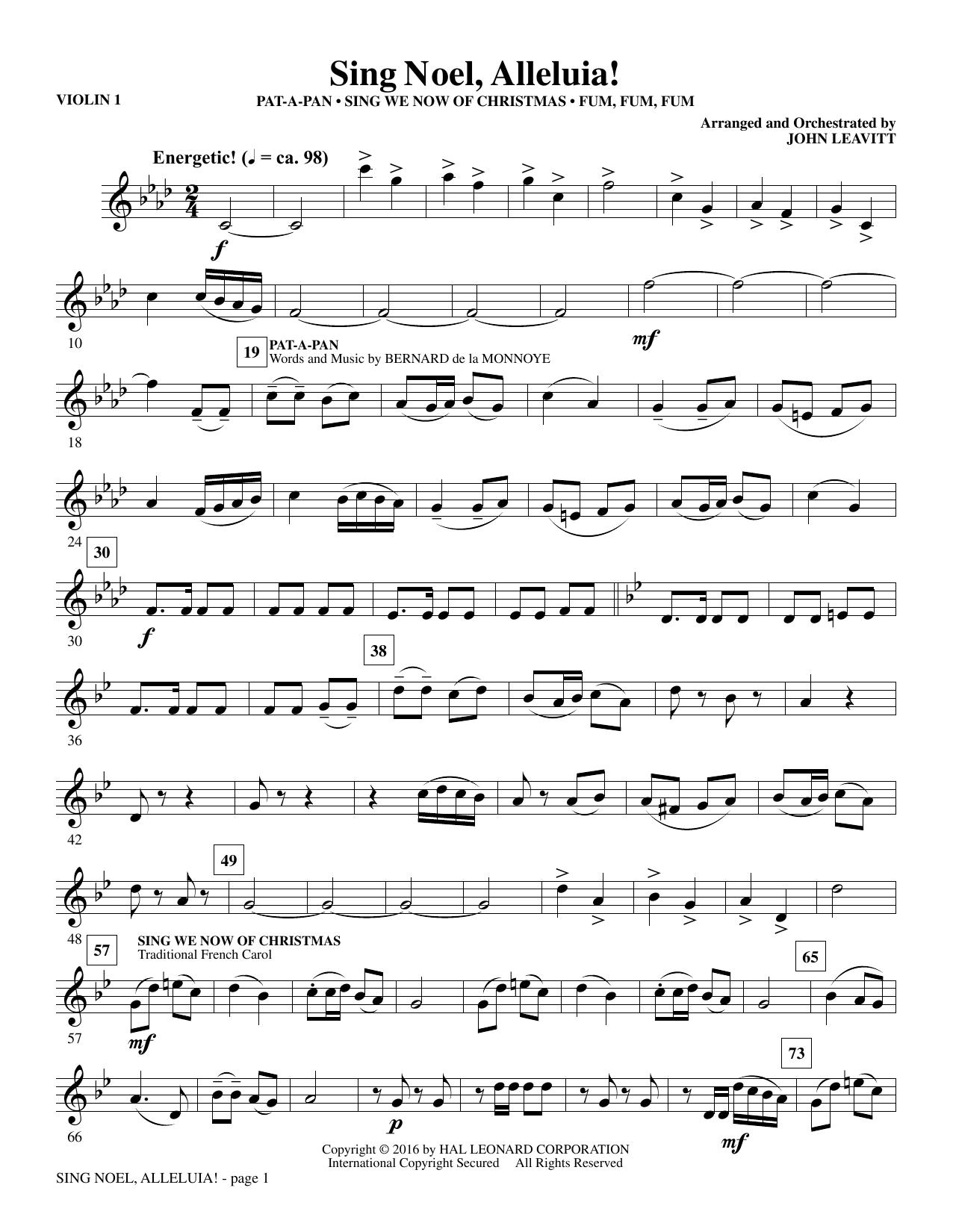 Sing Noel, Alleluia! - Violin 1 (Choir Instrumental Pak)