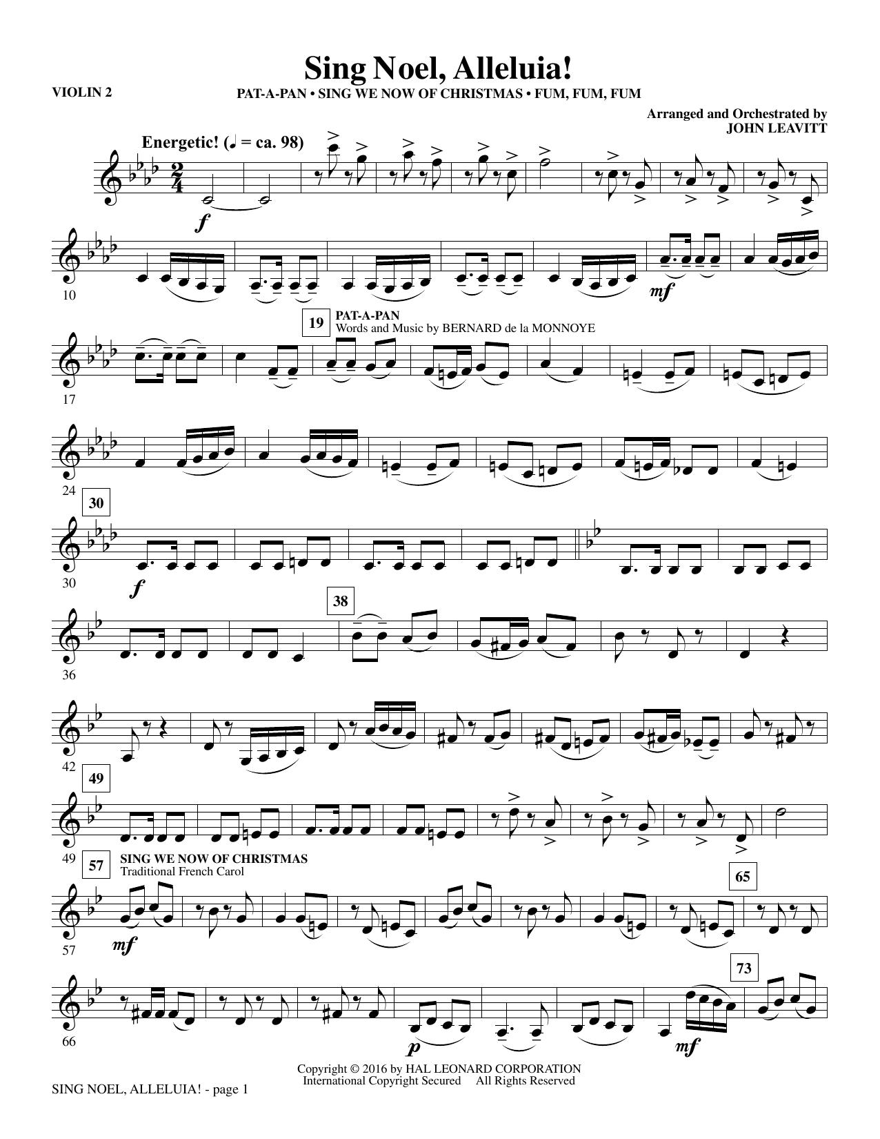 Sing Noel, Alleluia! - Violin 2 (Choir Instrumental Pak)