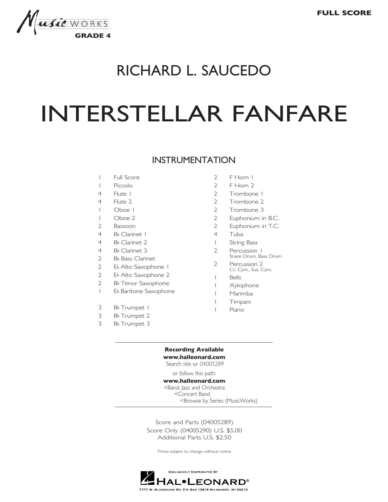 Interstellar Fanfare - Conductor Score (Full Score) (Concert Band)