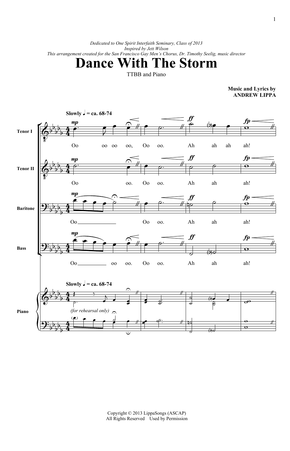 Dance With The Storm Sheet Music